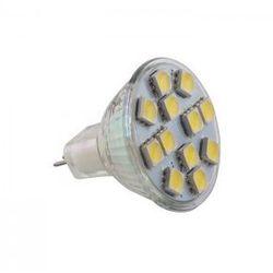 Żarówka LED MR11 G4 12LED SMD5050 12V biała zimna