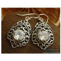 ARCONA - srebrne kolczyki z kryształem Swarovskiego