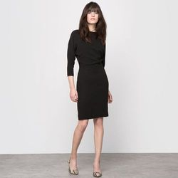 Sukienka z krepy z efektem 2 w 1