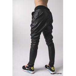 Spodnie skórzane baggy czarne