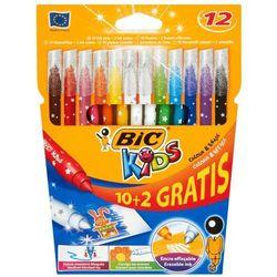 12szt Kids Colour and Erase Flamastry 10 kolorów i wymazywacze 2 sztuk