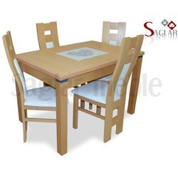 Zestaw AMAZONKA II 4 krzesła i stół 80x120/150