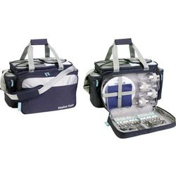 Torba termoizolacyjna, pasywna Ezetil Travel in Style 34 723330, 34 l, Navy, Srebrny, zestaw piknikowy dla 4 osób