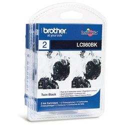 Tusz Brother LC980BKBP2 dwupak