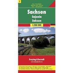 Saksonia 1:200 000. Mapa samochodowa, składana. Freytag&Berndt (opr. twarda)