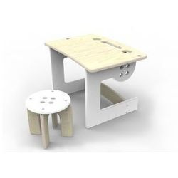 Stolik i stołeczek Guzik