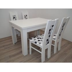 Mega okazja stół S-44 80/140/180 + 4 krzesła kolor biały