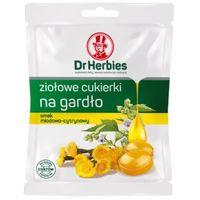 Dr Herbies ziołowe cukierki na gardło, smak miodowo-cytrynowy 70g