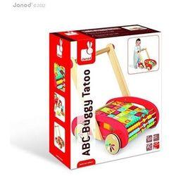 Wózek chodzik z klockami - zabawka dla dzieci