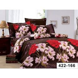 Pościel 200x220 4cz Komplet Pościeli 3D Kwiaty 166