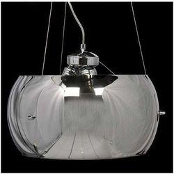 LAMPA wisząca STILIO LDP 6018 - 3 - 400 Lumina Deco szklana OPRAWA ZWIS srebrny