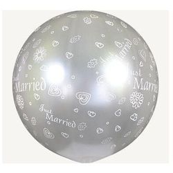 Just married kula transparentny balon 0,75 m