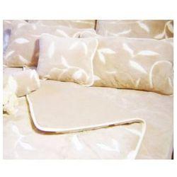 Camel 180x200 45x75 liście kołdra poduszki wełna