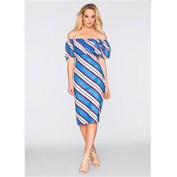 Sukienka w paski bonprix niebieski w paski