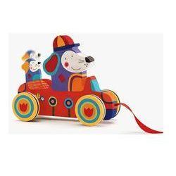 Drewniana zabawka do ciągnięcia Samochód