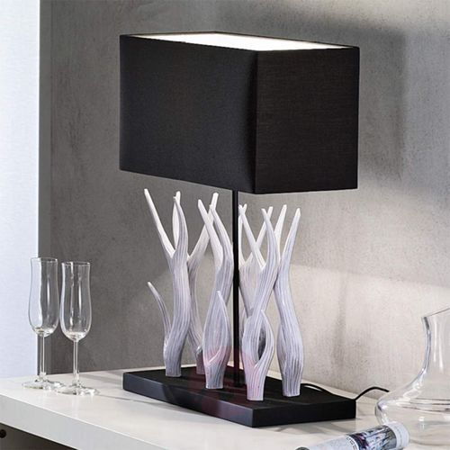 Marlies Lampa Stołowa Z Drewnianą Dekoracją Porównaj Zanim