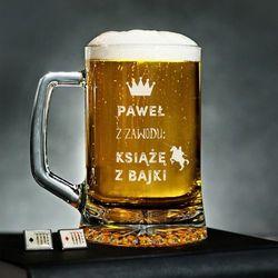 Książę z Bajki - Personalizowany Kufel - Kufel do piwa