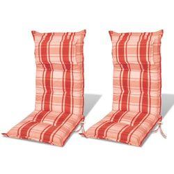 vidaXL Poduszki na krzes?a ogrodowe, fotele, pomara?czowoczerwone. Darmowa wysy?ka i zwroty
