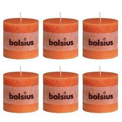 Świece rustykalne, Bolsius x6 (100x100 mm) Pomarańcz Zapisz się do naszego Newslettera i odbierz voucher 20 PLN na zakupy w VidaXL!