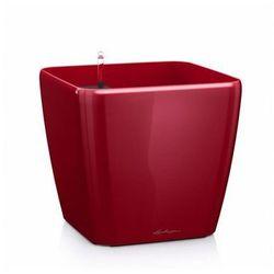 Lechuza Quadro LS 21 plastikowa doniczka samopodlewająca czerwona