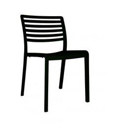 Krzesło z tworzywa do restauracji, kawiarni, bistro, sushi baru Resol Lama czarne