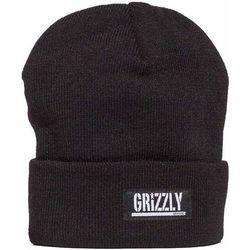 czapka zimowa GRIZZLY - Stamp Fold Blk (BLK)