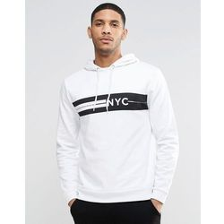 ASOS Hoodie With NYC Print - White
