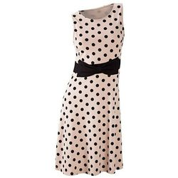 Sukienka w groszki bonprix jasnobrązowo-czarny w groszki
