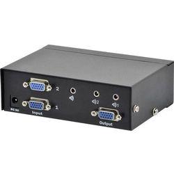 Przełącznik VGA Digitus DS-44100-1, 2 Porty, 1920 x 1080 px, Czarny