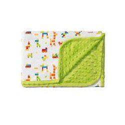 Koc bawełniany dwustronny bąbelki 75x100 BabyOno (zielony)