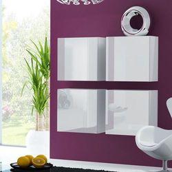 VIGO zestaw szafek wiszących na wysoki połysk - biały