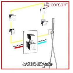 CORSAN Zestaw podtynkowy z termostatem, chrom CM-01T_H5x4