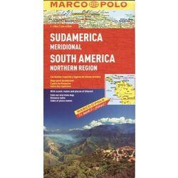 Ameryka Południowa - północ 1:4 mln - mapa Marco Polo (opr. miękka)