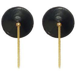 Nakładki na sutki Nippies Gold - czarne ze złotem