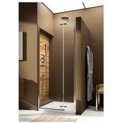 AQUAFORM VERRA LINE Drzwi wnękowe 120 prawe, profile chrom, szkło transparentne + DP Active 103-09407