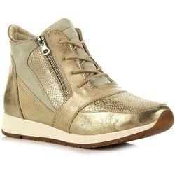 SERGIO LEONE złote buty damskie sportowe z brokatem - złoty