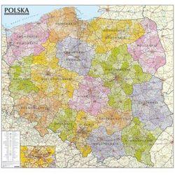Polska. Mapa administracyjno-samochodowa (tuba) laminowana mapa ścienna w skali 1:570 000