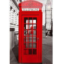 Londyn Czerwona Budka Telefoniczna - plakat