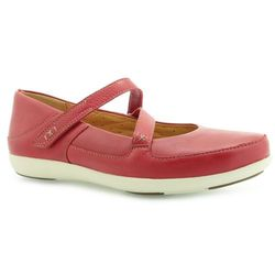 BALERINY CLARKS UN BECKY RED LEATHER