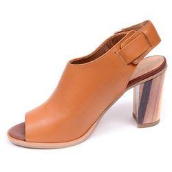 Sandały damskie Ryłko 8AGW7T5 jasny brąz-różnokolorowy-MS5