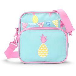 Penny Scallan Design, torba listonoszka, miętowo-różowa w ananasy Darmowa dostawa do sklepów SMYK