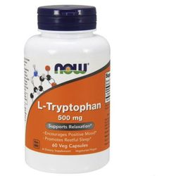 L-Tryptofan L-Tryptophan 500mg 60 kapsułek NOW FOODS