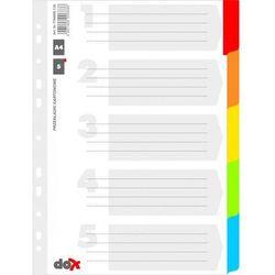 Przekładki Donau A4 5 kartek kolorowe