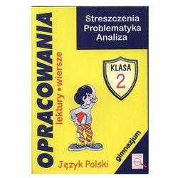 Opracowania Język polski, klasa 2, gimnazjum +mini - Dostawa zamówienia do jednej ze 170 księgarni Matras za DARMO