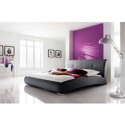 VERONA łóżko 160 cm tapicerowane czarne - czarny \ 180 x 200 cm