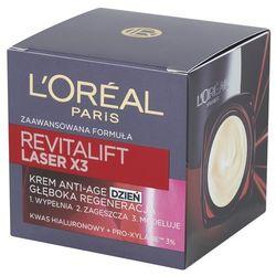 Loreal Paris Revitalift Przeciwzmarszczkowy krem do twarzy Laser x3 Głeboka Regeneracja na dzień 50 ml