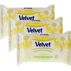 VELVET Refill 42szt nawilżany papier toaletowy rumiankowo-aloesowy x3