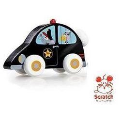SCRATCH Drewniany samochodzik - Policja - Drewniany samochodzik - Policja