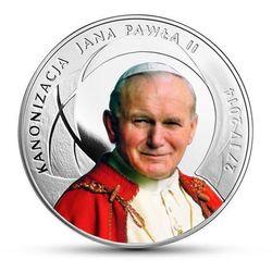 Srebrna moneta z okazji Kanonizacji Jana Pawła II - 10 zł - kolor