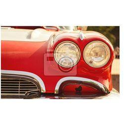 Plakat reflektory samochodu retro